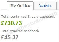 Our Quidco Cashback