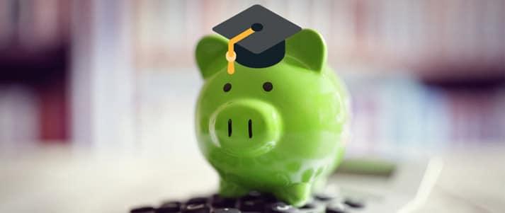 piggy bank with graduate cap
