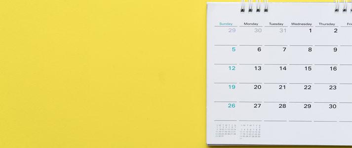 colourful calendar