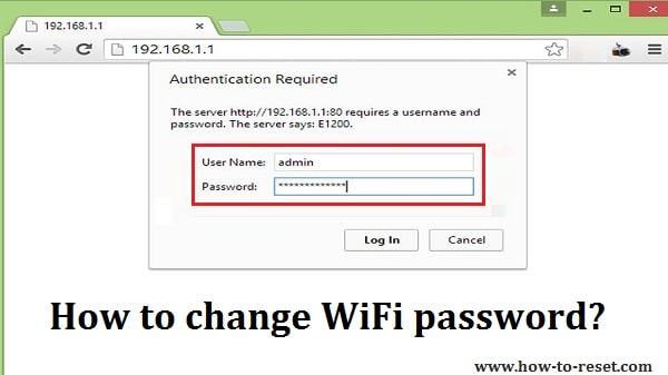 How to change password to wifi