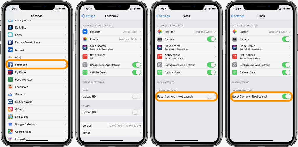 How to clear cache on an iphone