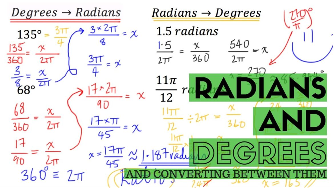 How to convert degree to radian