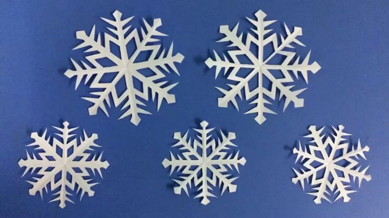 How to make a snow flake