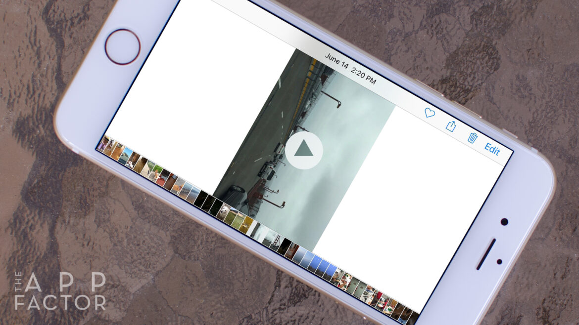 How to rotate a video in iphone
